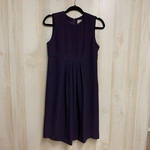 EUC Burberry Plum Pleated Dress Size 4